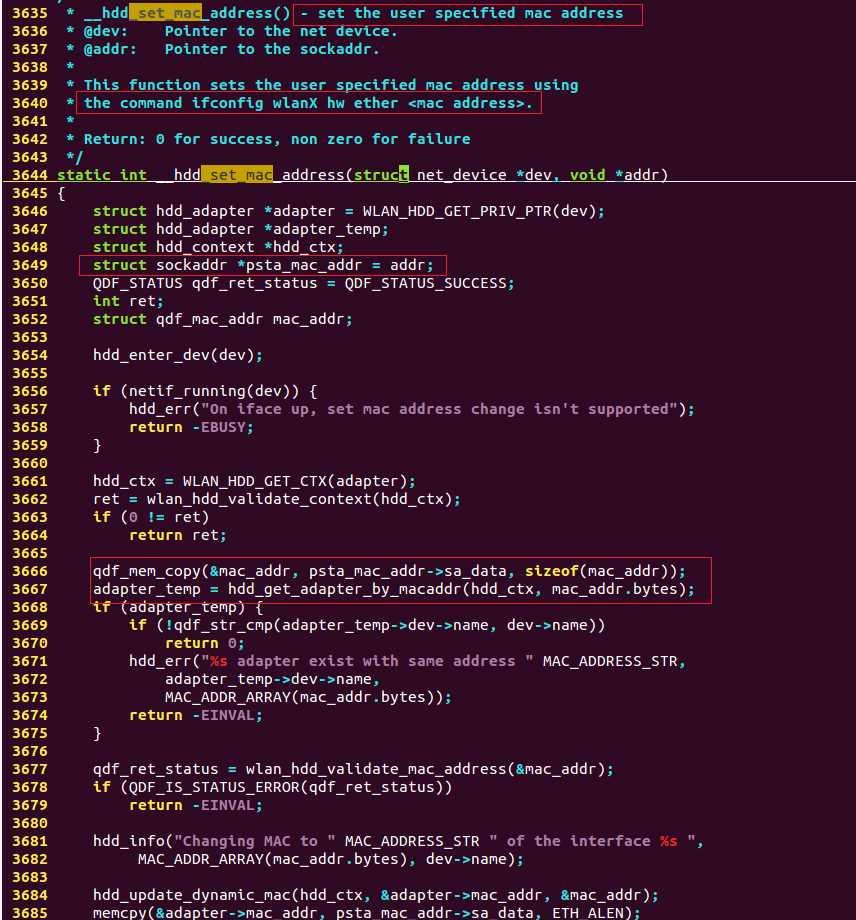 高通平台wlan mac地址分析以及更改方法
