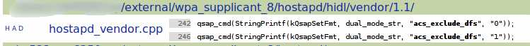 [BUG]softap 5g band 不能被其他设备搜索到